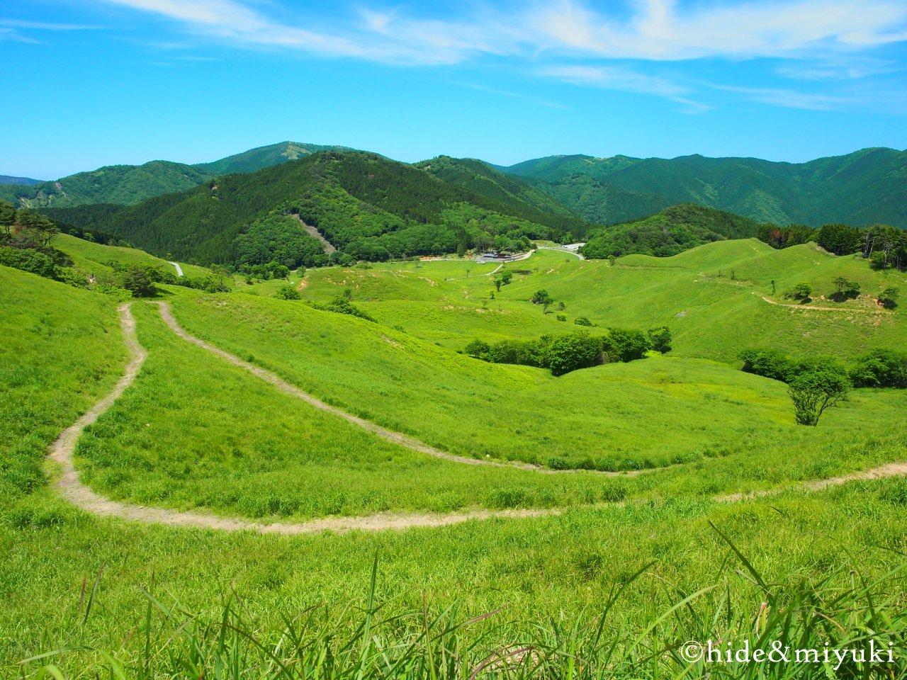 砥峰高原の景色(上から1)