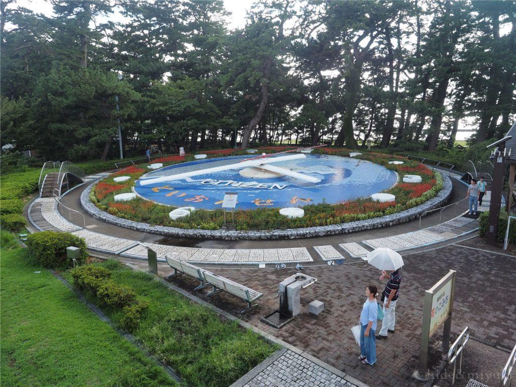 松崎の世界一の花時計