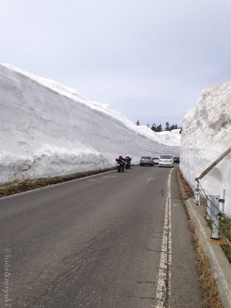 滋賀草津道路 雪の回廊付近の景色2