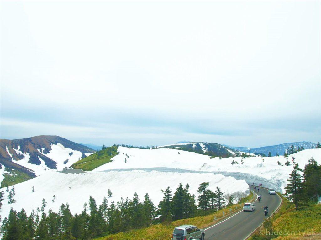 滋賀草津道路 雪の回廊付近の景色1