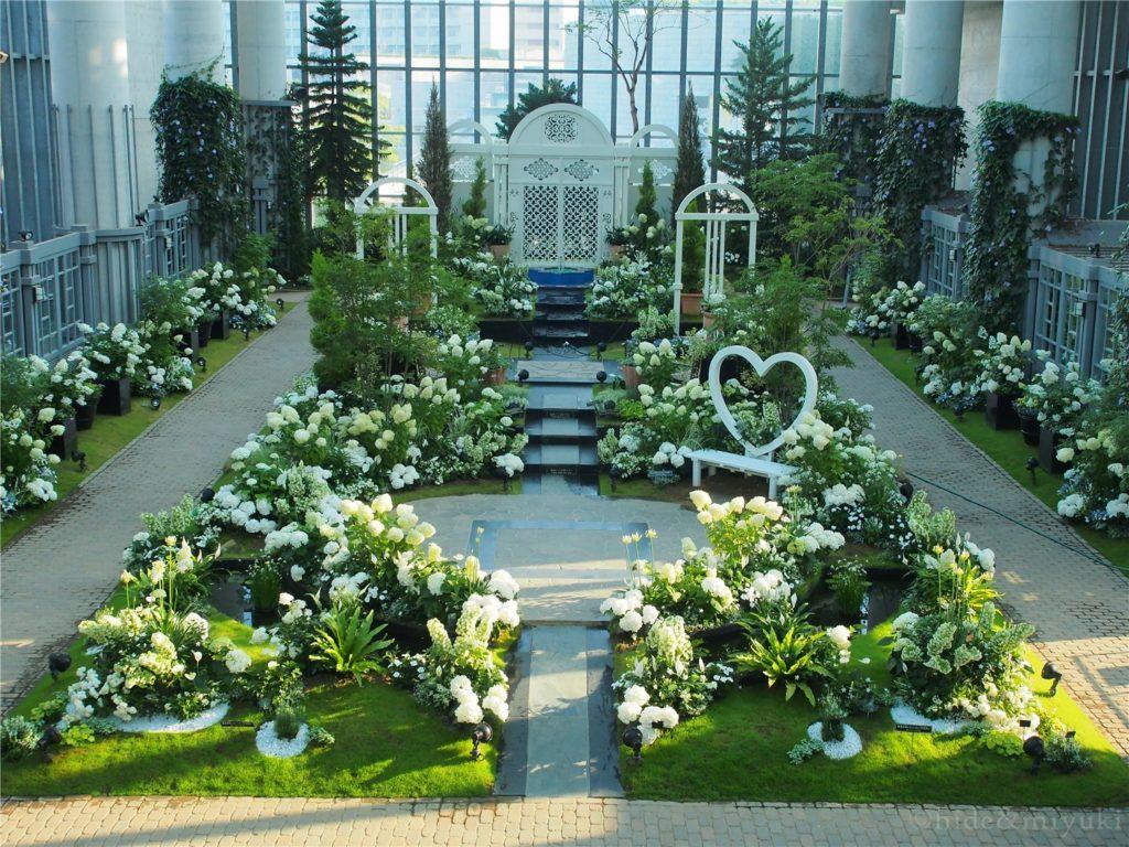 奇跡の星の植物館 白と緑の絶景スポット!館内の最奥部です