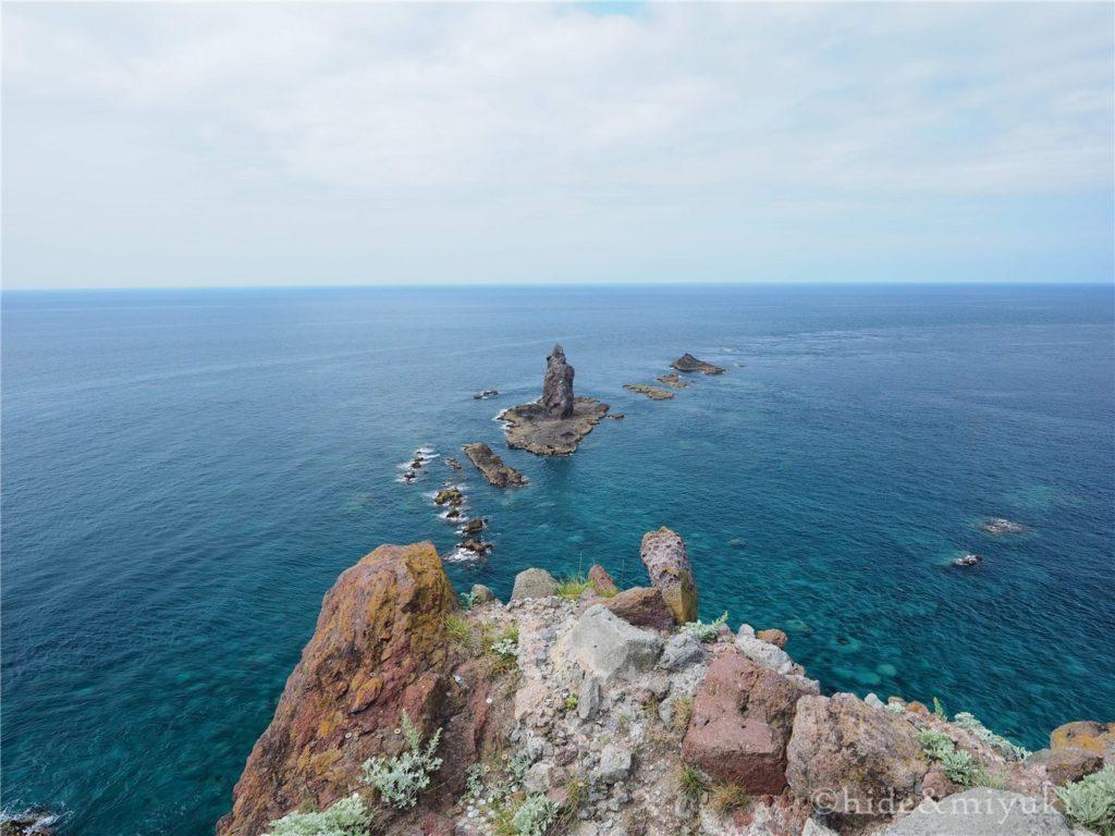神威岬先端からの景色